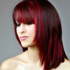 highlights burgundy red brown